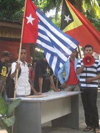 Para Pendukung Kemerdekaan Papua di Timur Leste
