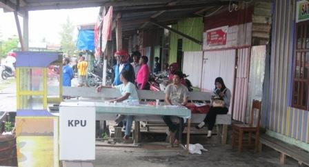 TPS Sepi dari Pemilih Rakyat Papua
