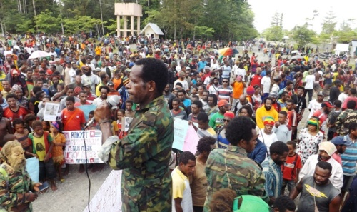 Massa Aksi KNPB 4 Maret 2015